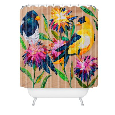 Elizabeth St Hilaire Birds and Blooms Shower Curtain