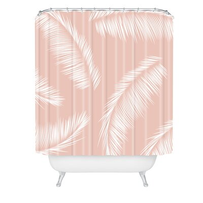 Kelly Haines Tropical Palm Leaves Shower Curtain