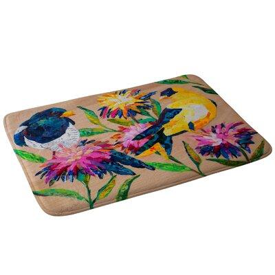 Elizabeth St Hilaire Birds and Blooms Bath Rug