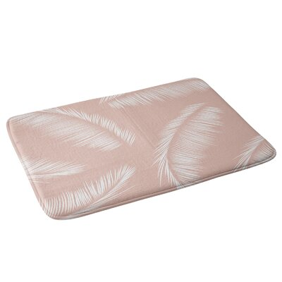 Kelly Haines Tropical Palm Leaves Bath Rug
