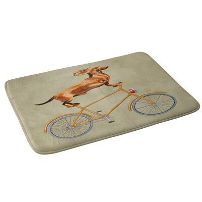 Coco de Paris Daschund on Bicycle Bath Rug