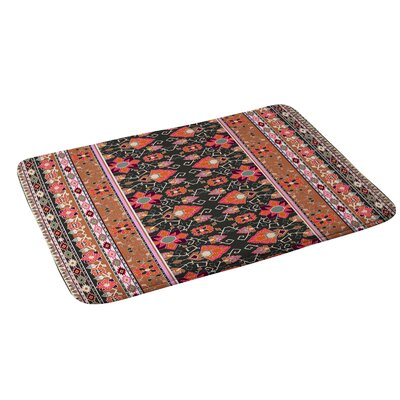 Aimee St Hill Semera Bath Rug Color: Mocha/Pink