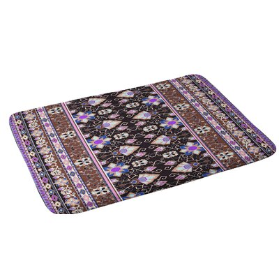 Aimee St Hill Semera Bath Rug Color: Purple/Dark Gray