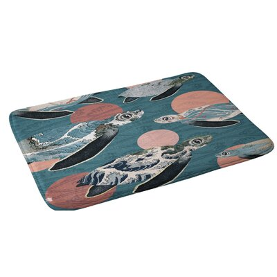 Belle13 Sea Turtle Polka Bath Rug