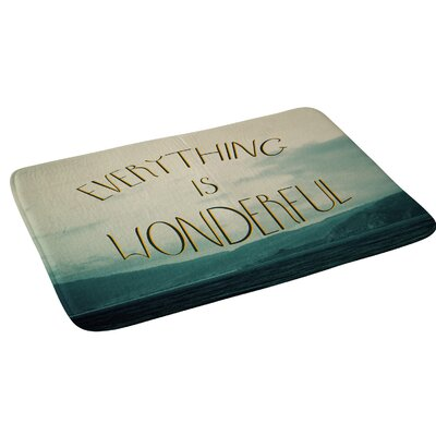 Chelsea Victoria Everything Is Wonderful Bath Rug