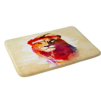 Robert Farkas Gym Lion Bath Rug