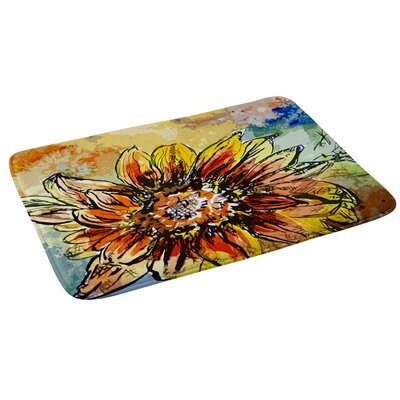 Ginette Fine Art Sunflower Moroccan Eyes Bath Rug