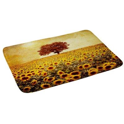 Viviana Gonzalez Lone Tree and Sunflowers Field Bath Rug
