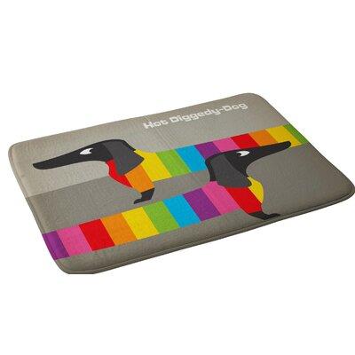 Anderson Design Group Rainbow Dogs Bath Rug