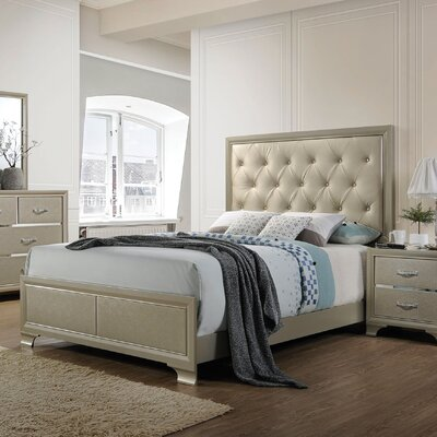 Shaldon King Upholstered Panel Bed