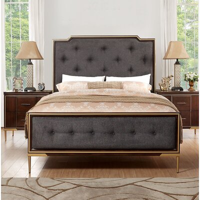 Laufer Upholstered Panel Bed Size: Queen