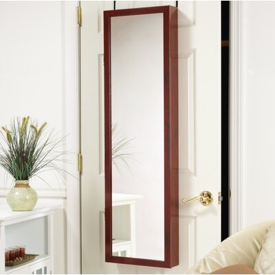 Nye Over the Door Jewelry Armoire with Mirror Finish: Cherry
