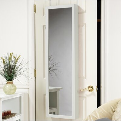 Nye Over the Door Jewelry Armoire with Mirror Finish: White