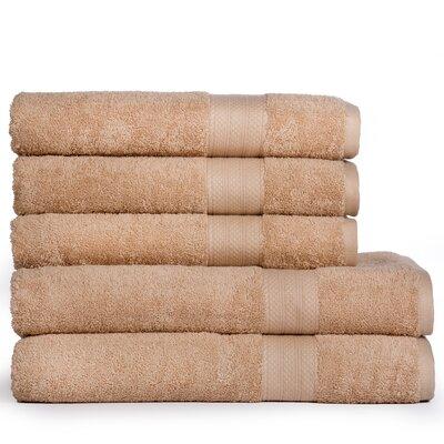 Cotton Oversized 5 Piece Towel Set Color: Beige