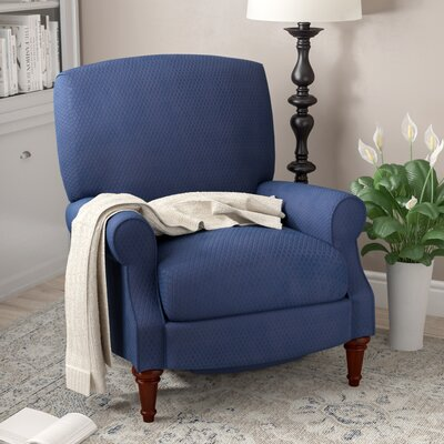 Bayrick Manual Recliner Upholstery: Blue