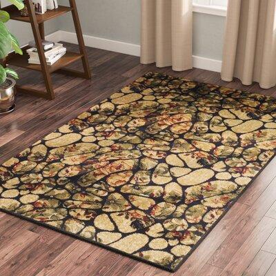 Colena Mosaic Tile Beige/Green Area Rug Rug Size: 5 x 8