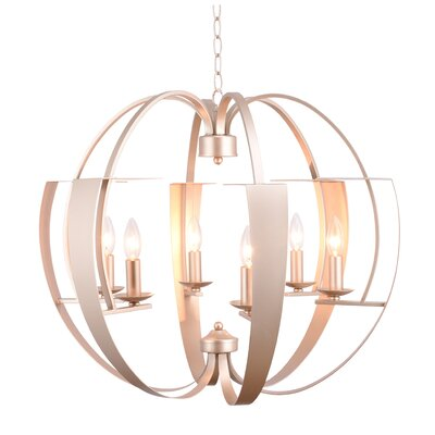 Verbena 6-Light Candle-Style Chandelier