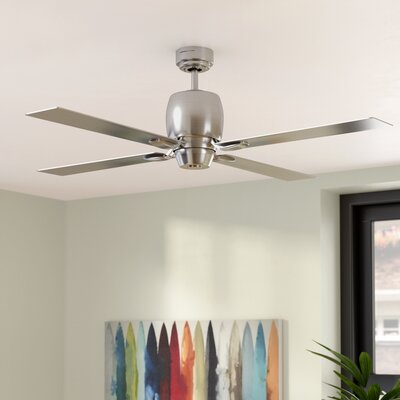 46 Oakmont Ceiling Fan Finish: Brushed Steel