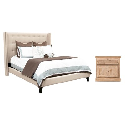 Estancia Upholstered Configurable Bedroom Set