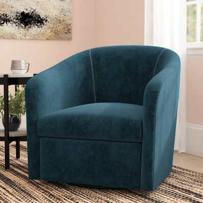 Galen Swivel Barrel Chair Upholstery: Ocean