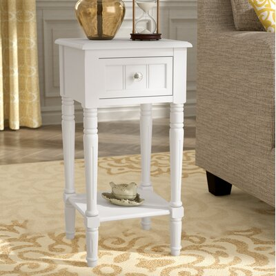 Liller End Table Color: Off-White