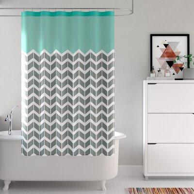 Zakary Shower Curtain Color: Teal