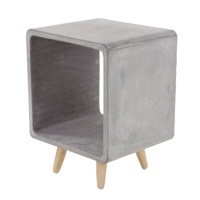 Gosnells Contemporary Square Fiberclay End Table Color: Gray