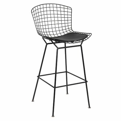 Timmons Bar Stool Seat Color: Black