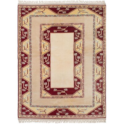 One-of-a-Kind Bettina Hand-Knotted Wool�Cream Area Rug