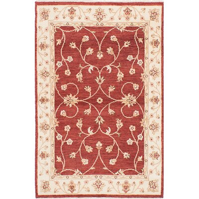 One-of-a-Kind Borchert Hand-Knotted Wool Dark Red Area Rug