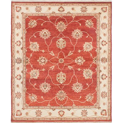 One-of-a-Kind Borchert Hand-Knotted Wool Dark Burgundy Area Rug