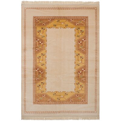 One-of-a-Kind Bettina Hand-Knotted Wool�Ivory Area Rug