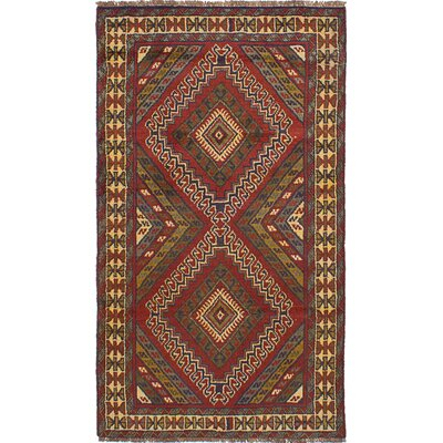 One-of-a-Kind Goodfellow Hand-Knotted Wool Dark Red Area Rug