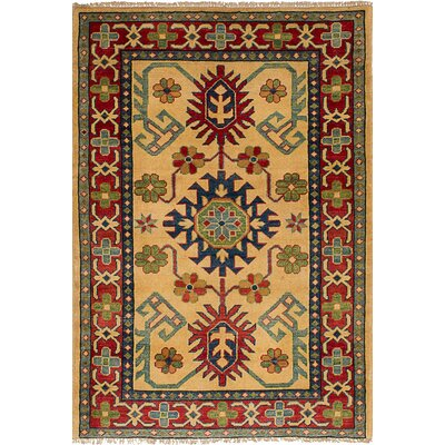 One-of-a-Kind Bernard Hand-Knotted Wool�Cream Area Rug