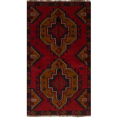 One-of-a-Kind Onawa Hand-Knotted Wool Red Area Rug