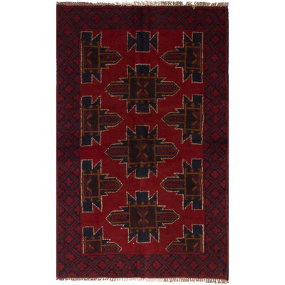 One-of-a-Kind Gomez Hand-Knotted Wool Red Area Rug