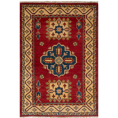 One-of-a-Kind Bernard Hand-Knotted Wool�Dark Red Area Rug