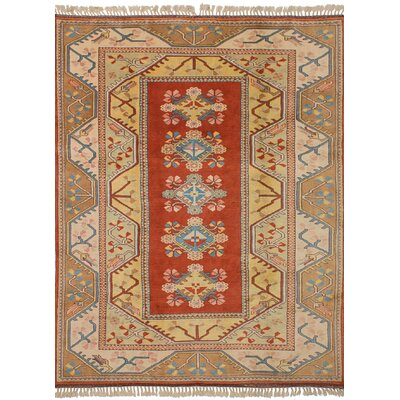 One-of-a-Kind Biddlesden Hand-Knotted Wool�Dark Copper Area Rug