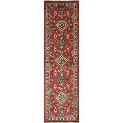 One-of-a-Kind Bernard Hand-Knotted Wool Cream/Dark Burgundy Area Rug