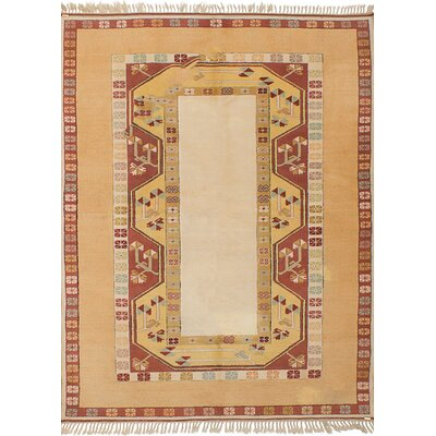 One-of-a-Kind Biddlesden Hand-Knotted Wool�Ivory Area Rug