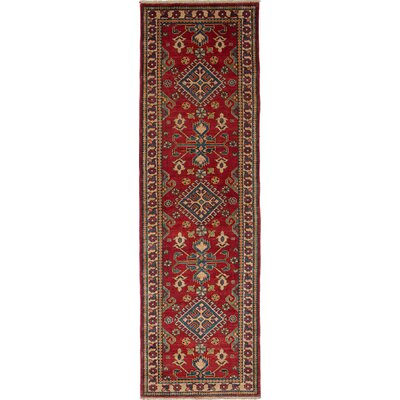 One-of-a-Kind Bernard Hand-Knotted Wool Dark Red Area Rug