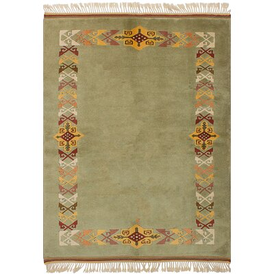 One-of-a-Kind Bettina Hand-Knotted Wool�Light Green Area Rug