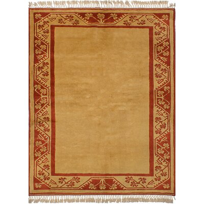 One-of-a-Kind Bettina Hand-Knotted Wool�Beige Area Rug