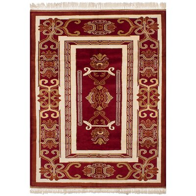 One-of-a-Kind Bettina Hand-Knotted Wool�Dark Red Area Rug