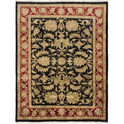 One-of-a-Kind Hounsfield Hand-Knotted Wool Beige/Black Area Rug