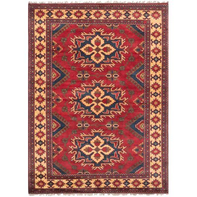 One-of-a-Kind Glenmore Hand-Knotted Wool Dark Burgundy Area Rug