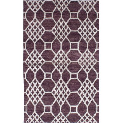 One-of-a-Kind Eduardo Hand-Knotted Burgundy Area Rug