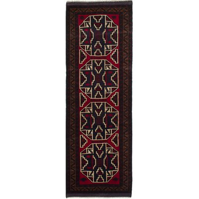 One-of-a-Kind Gloversville Hand-Knotted Wool Dark Brown/Dark Burgundy Area Rug