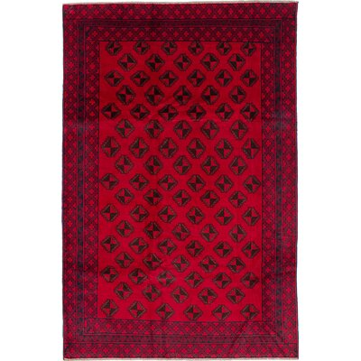 One-of-a-Kind Ingham Hand-Knotted Wool Dark Burgundy Area Rug