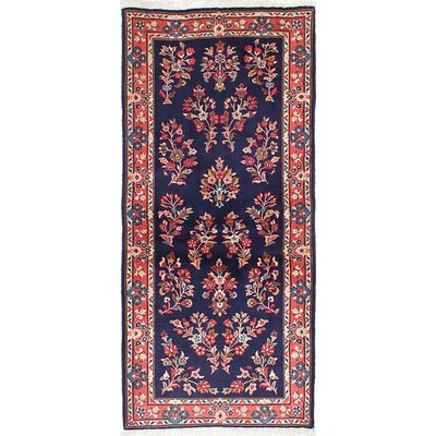 One-of-a-Kind Boothe Hand-Knotted Wool Dark Navy Area Rug